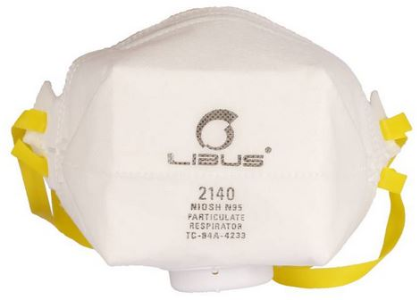 Mascarilla Descartable Libus Plegable Modelo 2140c