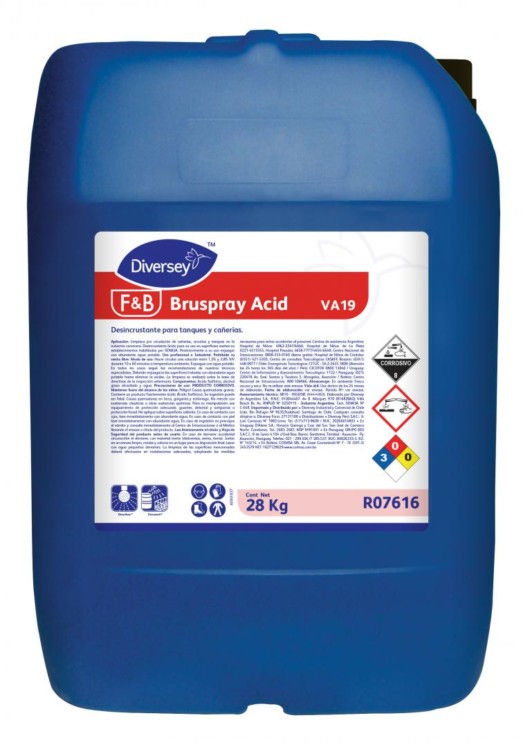 Bruspray Acid Bidón X28kg (diversey)