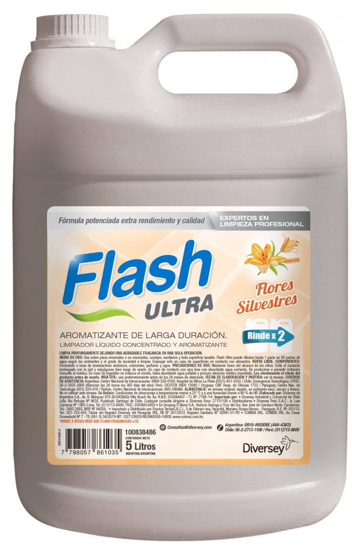 Flash Ultra Flores Silvestres X 5 Lts (diversey)