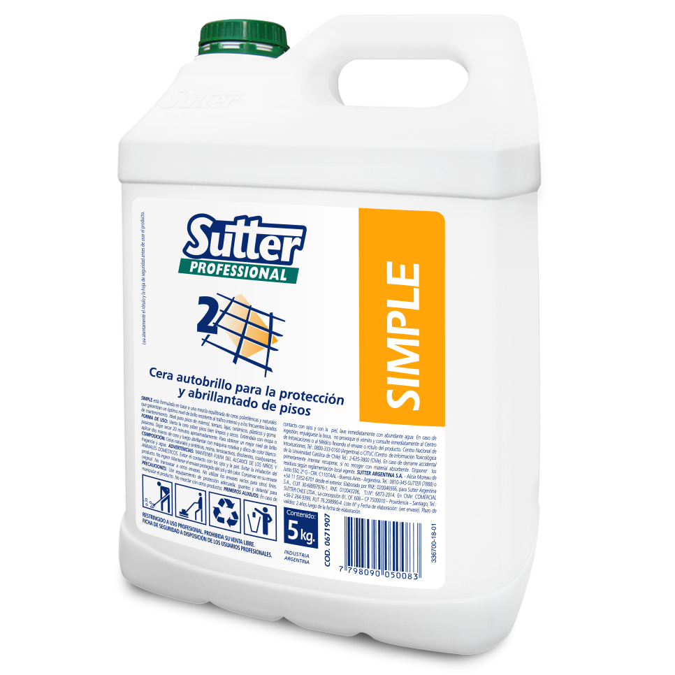 Emulsion Autobrillo Simple X 5 Lts (sutter)